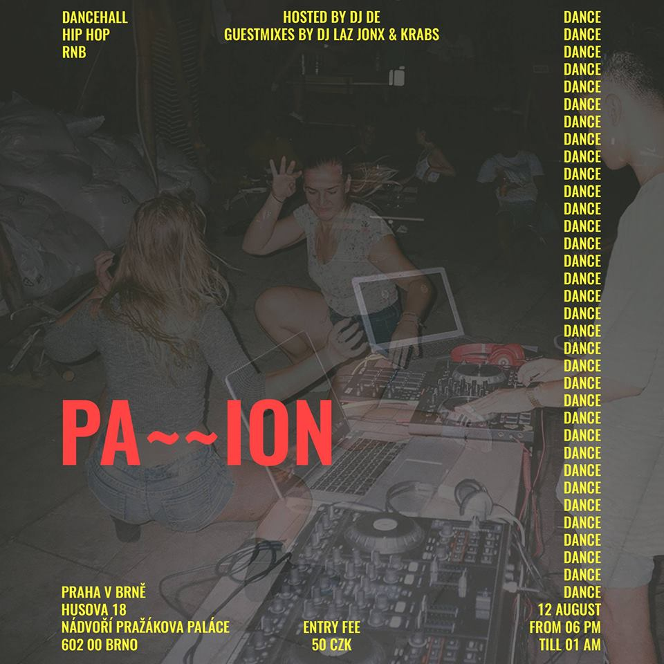 SOB / 12.8. / 18:00 / Pa~~ion / party
