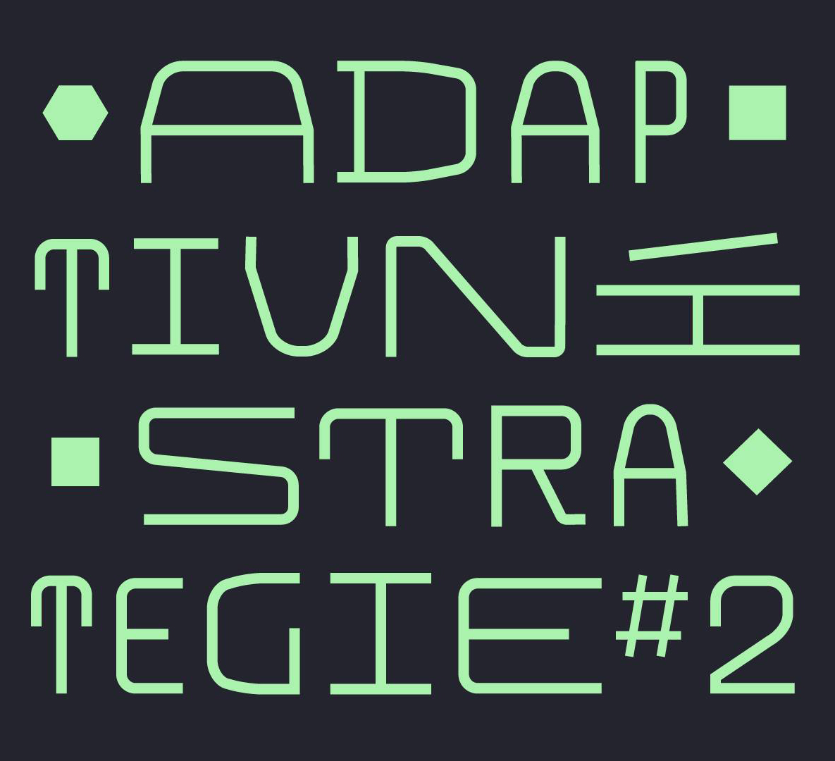 SO / 11.11. / 18.00 / Adaptivní strategie #2 / symposium, instalace