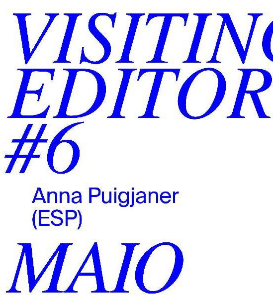 PÁ / 15.12. / 19.00 / VISITING EDITORS #6 Anna Puigjaner – MAIO / přednáška, diskuse