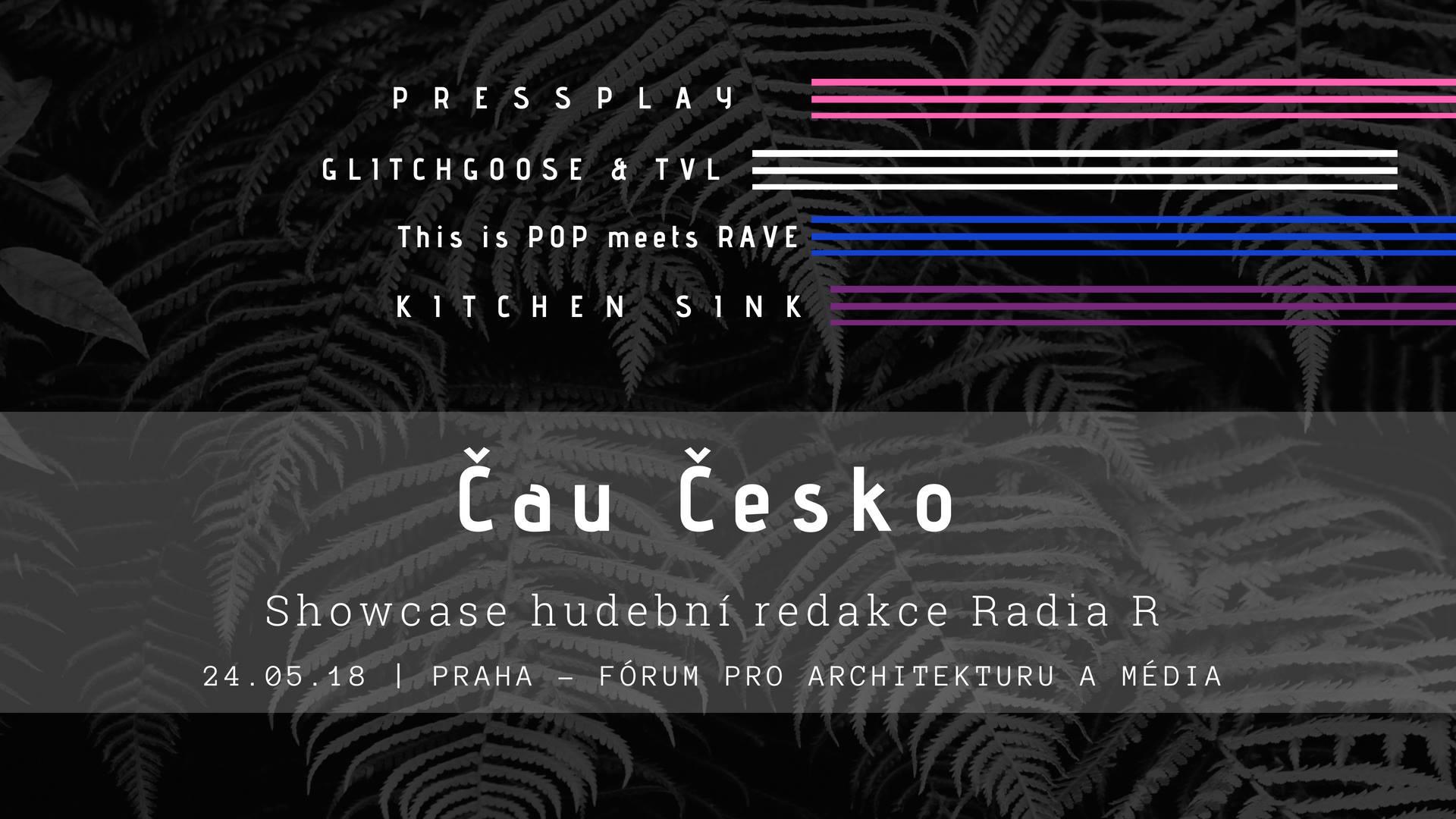 ČT / 24.5. / 18.30 / Showcase hudební redakce Radia R + Čau Česko / showcase, koncert