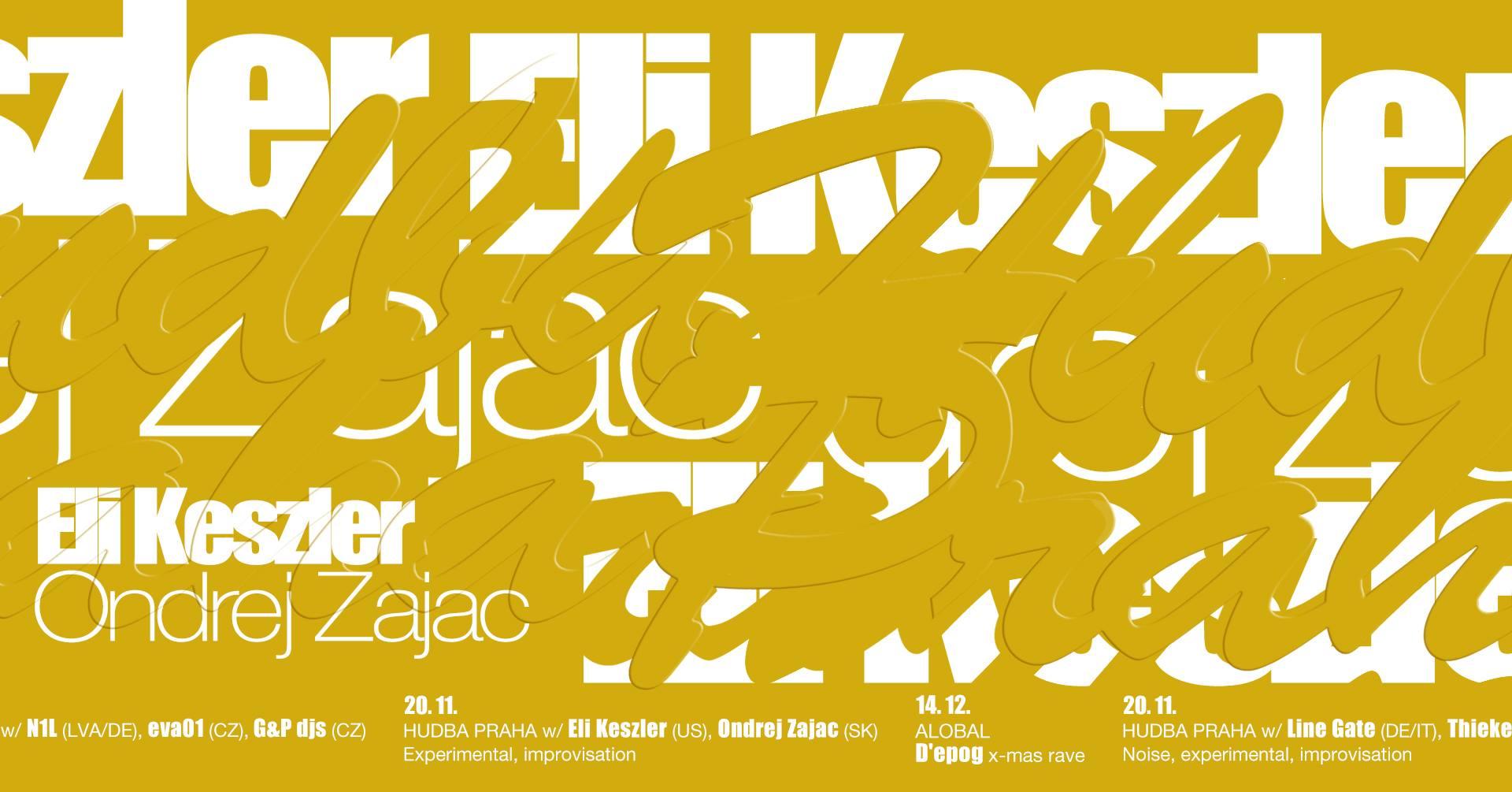 ÚT / 20.11. / 21.00 / HUDBA PRAHA w/ Eli Keszler (US), Ondrej Zajac (SK) / koncert, dj set