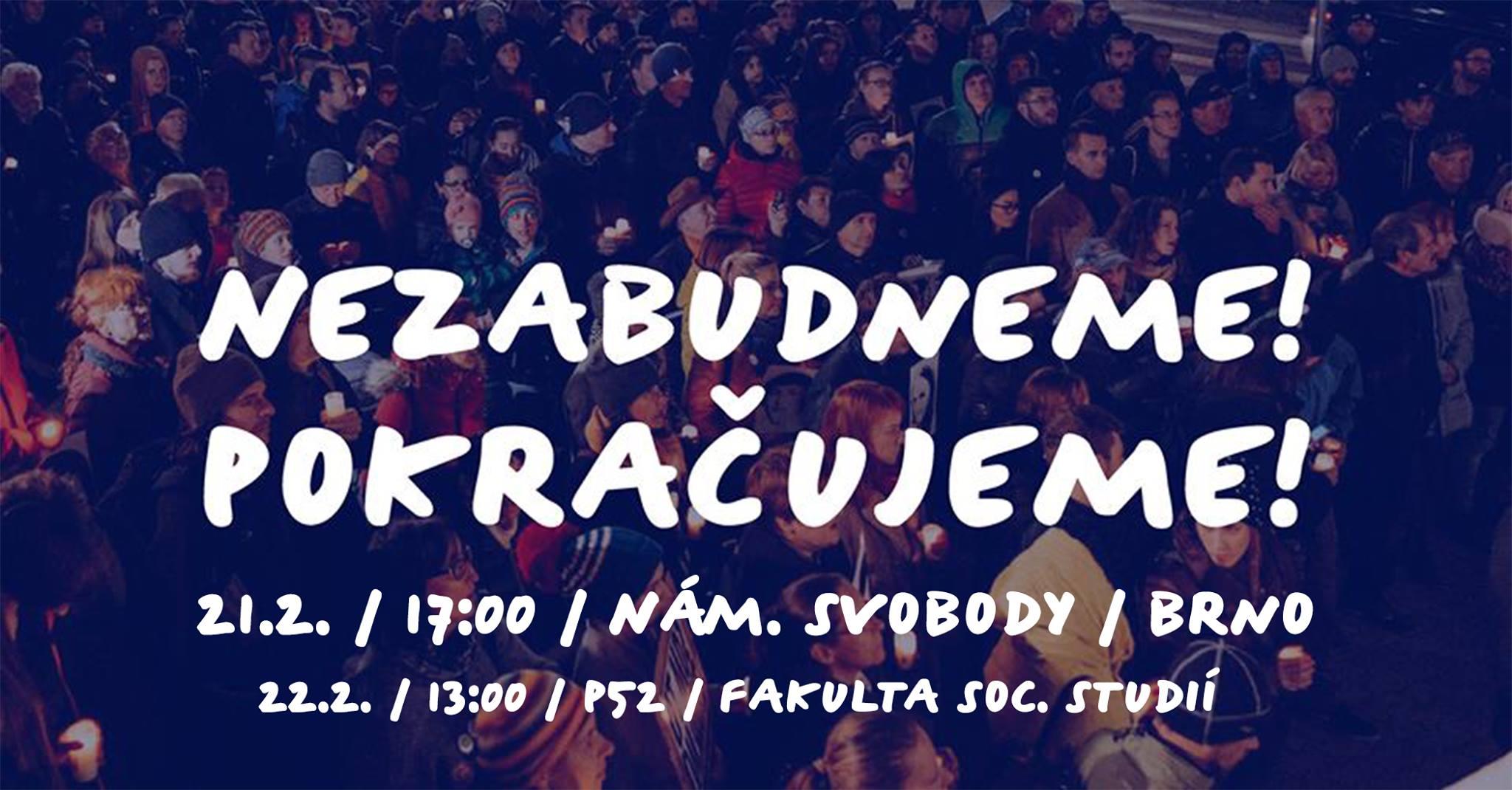ČT / 21.2. / 19.00 / Nezabudneme! Pokračujeme! / diskuse, projekce