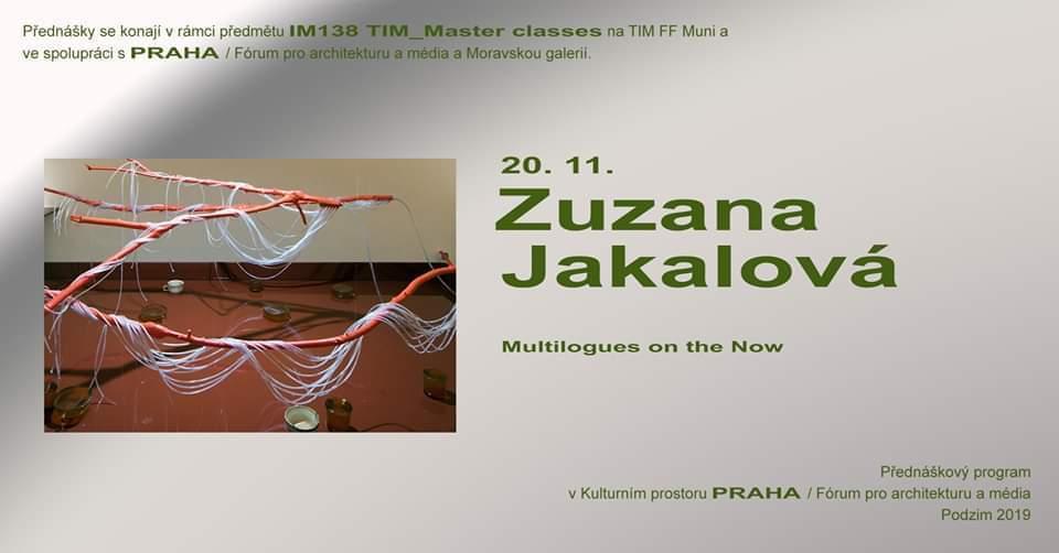 ST / 20.11. / 19.00 / TIM Master class: Zuzana Jakalová / přednáška, diskuse
